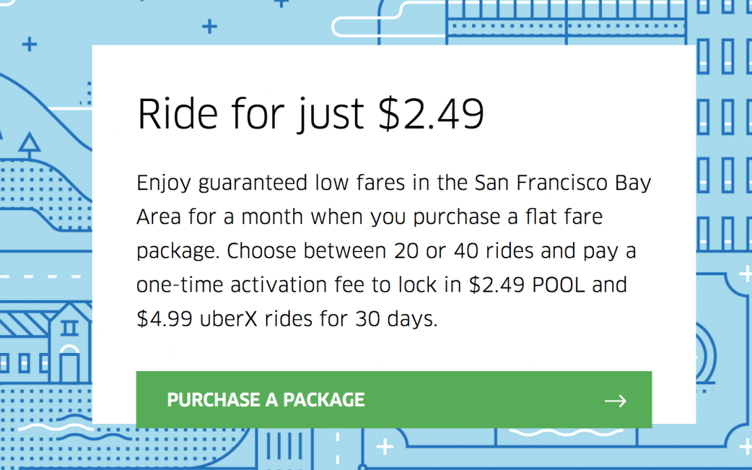 Uber Flat Fares San Francisco & Additional Cities