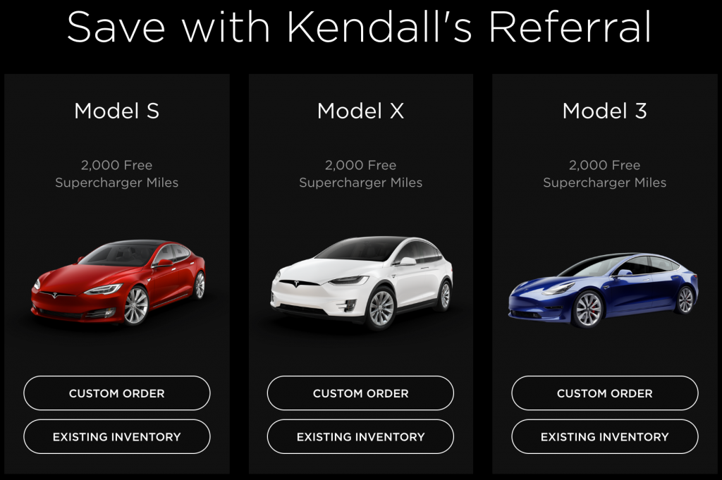 tesla referral for 2,000